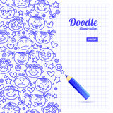 Doodle kid cartoon design Royalty Free Stock Photography