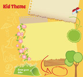 Doodle Kid Template Stock Images