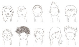 Doodle kids Stock Photography