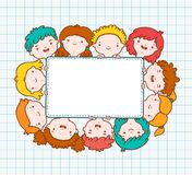 Doodle kids blank frame Stock Photo