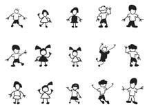 Doodle kids icons Stock Photo