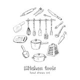 Doodle Kitchen tool collection - vector illustration Stock Photography