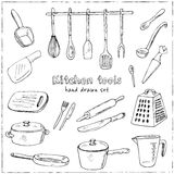 Doodle Kitchen tool collection - vector illustration Stock Photos