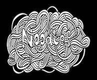 Doodle kluski ręki rysunek Zdjęcie Royalty Free