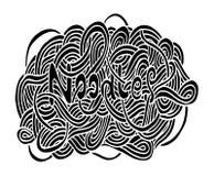 Doodle kluski ręki rysunek Fotografia Royalty Free