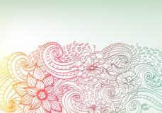 Doodle koloru kwiecisty tło Zdjęcie Royalty Free