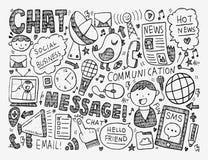 Doodle komunikaci tło ilustracji