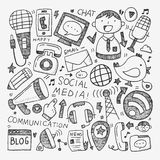 Doodle komunikaci tło Fotografia Stock