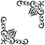 Doodle kwiatu abstrakcjonistyczna czarna handdrawn rama Zdjęcia Stock