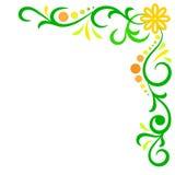 Doodle kwiatu wektorowa abstrakcjonistyczna rama Zdjęcia Stock