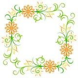 Doodle kwiatu wektorowa abstrakcjonistyczna rama Obraz Royalty Free