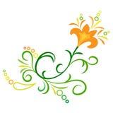 Doodle kwiatu wektorowy abstrakcjonistyczny ornament Zdjęcie Stock