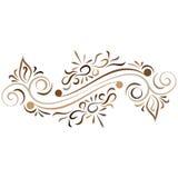 Doodle kwiatu wektorowy abstrakcjonistyczny ornament Zdjęcie Royalty Free