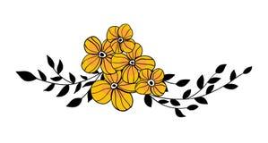 Doodle kwitnie bukiet Zdjęcia Royalty Free