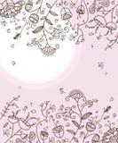 doodle kwitnie uroczego Obrazy Royalty Free