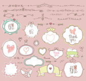 Doodle  labels, badges,frame,border,decor element Royalty Free Stock Photo