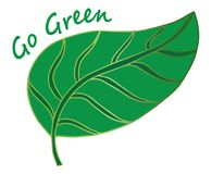 Doodle leaf background. Hand drawing illustration Go Green Royalty Free Stock Image