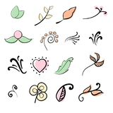 Doodle leaf, flower, brunch illustration. Doodle leaf, flower, brunch illustration Vector eps 10 Royalty Free Stock Images