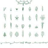 Doodle Leaf Shape Outline Royalty Free Stock Images