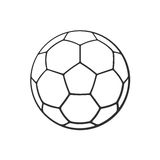 Doodle of leather soccer ball. Vector illustration. Hand drawn doodle of leather soccer ball. Sports equipment. Cartoon sketch. Decoration for greeting cards Royalty Free Stock Images