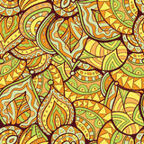 Doodle Leaves Abstract Pattern Royalty Free Stock Photo