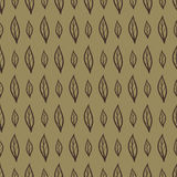 Doodle leaves vector seamless pattern Royalty Free Stock Image
