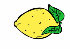 Doodle lemon Stock Photo