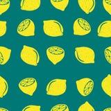 Doodle lemons seamless pattern. vector illustration