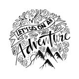 Lets go on an adventure. Doodle of Lets go on an adventure Royalty Free Stock Photography
