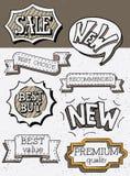 Doodle lettering elements Stock Photo