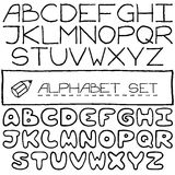 Doodle letters set of two full alphabets. Stock Photo