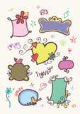 doodle śliczne ramy Zdjęcie Royalty Free