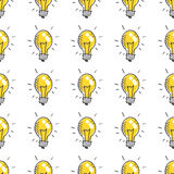Doodle light bulbs Royalty Free Stock Photo