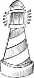 Doodle Light House Vector Stock Images