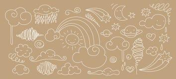 Doodle lindo del cielo Fotos de archivo libres de regalías