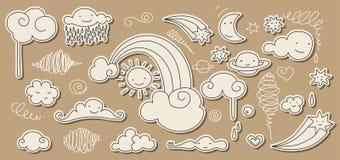 Doodle lindo del cielo Imágenes de archivo libres de regalías