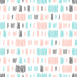 Doodle line seamless background. Black, blue and pink line. Abstract seamless pattern for card, invitation, poster, banner, placard, diary, album, sketch book Royalty Free Stock Photos