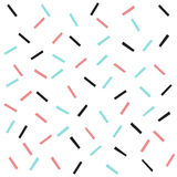 Doodle line seamless background. Black, blue and pink line. Abstract seamless pattern for card, invitation, poster, banner, placard, diary, album, sketch book Royalty Free Stock Image