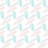 Doodle line seamless background. White, pink and blue line. Royalty Free Stock Photography