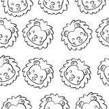 Doodle lion animal design collection Stock Photos