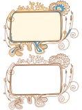 Doodle los marcos Imagen de archivo