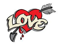 Doodle for love concept. Vector Illustration for valentine and wedding Stock Photo