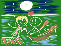 Doodle in love Stock Images