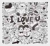 Doodle love element Stock Photos