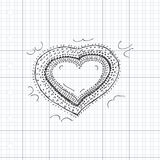 Doodle of a love heart design Stock Image