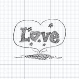 Doodle of a love heart design Royalty Free Stock Image