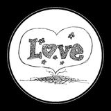 Doodle of a love heart design Royalty Free Stock Photo