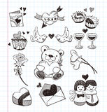 Doodle love icons Stock Photo