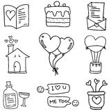 Doodle of love romance vector Royalty Free Stock Photo
