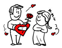 Doodle love story Stock Photos